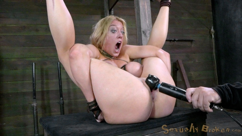 Busty whore got bound and raped hard by her master