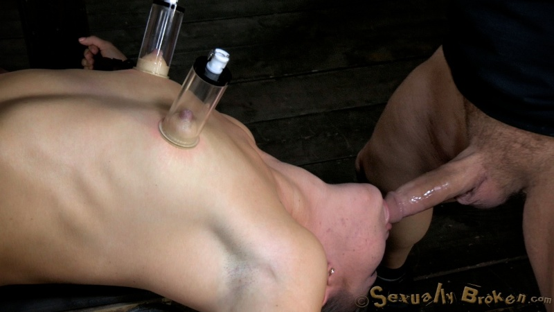 Fisting and machine pussy destruction while being throat fucked